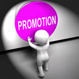 Promotion Pressed Shows New And Higher Role Royalty Free Stock Photo