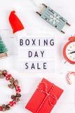 Promotion saisonnière de vente de lendemain de Noël image libre de droits