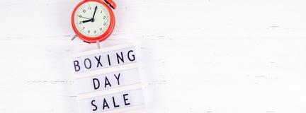 Promotion saisonnière de vente de lendemain de Noël photos stock