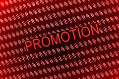 Promotion sale Royalty Free Stock Photo