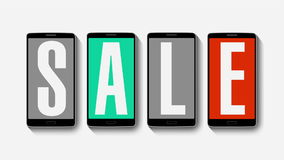 Promotion of Sale, Discount 50%, effective sale alarm. stock video footage