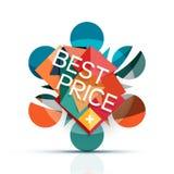 Promotion sale icon, Christmas snowflake  Stock Photo