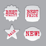 Promotion sale labels. Art illustration of the promotion sale labels Royalty Free Stock Photos