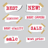 Promotion sale labels Royalty Free Stock Images