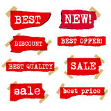 Promotion sale labels Stock Photos