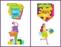 Promotion spéciale -80 outre d'illustration de vecteur illustration de vecteur