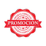 Promotion. Special offer - business spanish printable stamp Royalty Free Stock Photos
