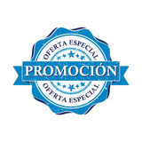 Promotion. Special offer - Spanish business printable stamp Royalty Free Stock Photos