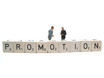 Promotion spelled out. The word promotion spelled out stock photos