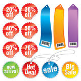 Promotion stickers and labels Stock Photos