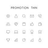 Promotion thin icon set Royalty Free Stock Photos
