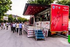 Turkish Stars Promotion Truck In Cinarcik Town - Turkey Royalty Free Stock Photos