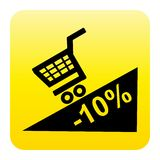 Promotion web button Royalty Free Stock Image