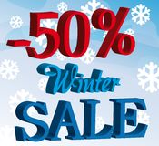 Promotion winter sale background Stock Image