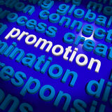 Promotion Word Cloud  Shows Discount Bargain Or Mark down Stock Images