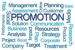 Promotion Word Cloud royalty free stock photography