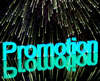 Promotion Word With Fireworks Showing Sale Savings Or Discounts Royalty Free Stock Photo