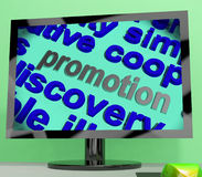 Promotion Word Means Advertising Campaign Or Special Deal Royalty Free Stock Photography