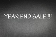 Promotion. Year End Sale word on Black background for concept and wording Royalty Free Stock Images