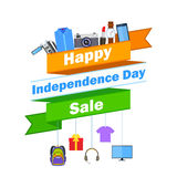 Promotional and advertisement for Independence Day of India Royalty Free Stock Photography