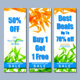 Promotional and advertisement sale tag Royalty Free Stock Images