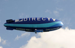 Promotional airship over Miami royalty free stock images