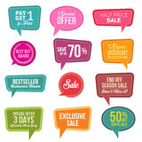 Promotional Colorful Web Sale Stickers Collection. Stock Photography