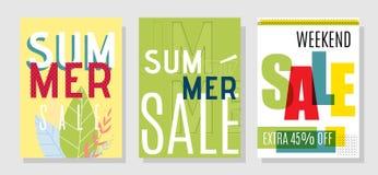 Promotional Design Cards for Special Summer Sales. Marketing Promotional Design Cards for Special Summer Sales. Vector Flat Illustrations for Online Shop and stock illustration