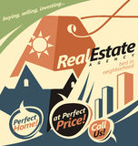 Promotional document template for real estate agent. royalty free illustration