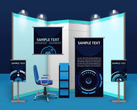 Promotional Exhibition Stand Template Stock Images