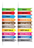 Promotional labels Royalty Free Stock Images