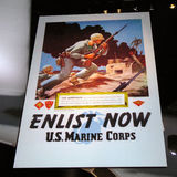 Promotional Poster. Hanging in the National United States Marine Corps Museum in Virginia Royalty Free Stock Images