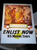 Promotional Poster, USMC Museum. Promotional poster hanging in the National United States Marine Corps Museum in Virginia Stock Photos
