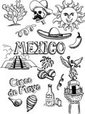Mexico doodle Stock Image