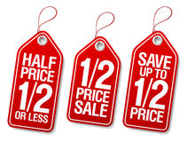 Promotional sale labels. Royalty Free Stock Photo