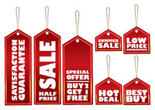Promotional sale labels Stock Images