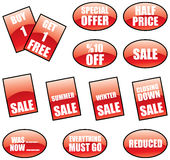 Promotional sale labels. A promotional sale labels and stickers set vector illustration