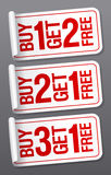 Promotional sale stickers. Royalty Free Stock Images