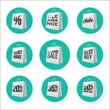 Promotional Sale Stickers Collection. Royalty Free Stock Photos