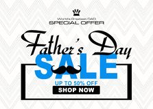 special illustration for father`s day, shopping discount image stock illustration