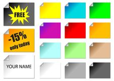Promotional stickers Stock Images