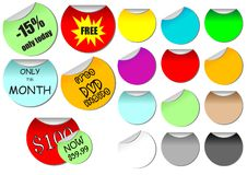Promotional stickers Royalty Free Stock Photo