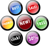 Promotional  stickers Royalty Free Stock Image