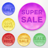 Promotional stickers. Colorful  collection. Royalty Free Stock Image