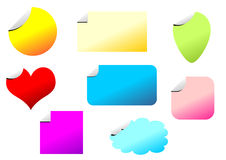 Promotional stickers set Royalty Free Stock Image