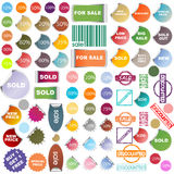 Promotional stickers and stamps Stock Images