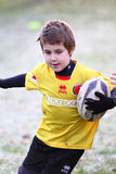 Promotional tournament of youth rugby. 12 teams of north Italy, with children under 11 years, have participated in a tournament of youth rugby in Pordenone ( Stock Image
