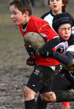 Promotional tournament of youth rugby. 12 teams of north Italy, with children under 11 years, have participated in a tournament of youth rugby in Pordenone ( Stock Photos