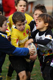 Promotional tournament of youth rugby. 12 teams of north Italy, with children under 11 years, have participated in a tournament of youth rugby in Pordenone ( Stock Images