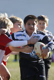 Promotional tournament of youth rugby Royalty Free Stock Image